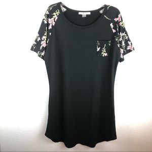 Floral Shoulder Sleep Shirt